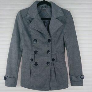 Jou Jou Double Breasted Gray Coat Sz. S